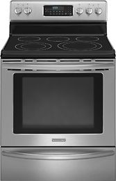 KitchenAid Self Cleaning Freestanding Electric Range Stainless/Stainless  Look