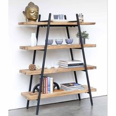 shelf decor living room; floating shelf decors; open shelves; bookshelf styling; ladder shelf decor living room. #shelfideas #shelfdecor #roomdecors