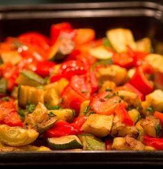 Vegan Recipe: Zucchini, Squash & Bell Pepper Casserole