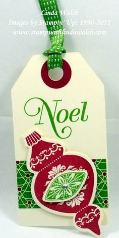 Ornament tag by scrapnforfun - Cards and Paper Crafts at Splitcoaststampers