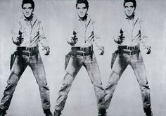 triple_elvis - Andy Warhol Andy Warhol – Triple Elvis 1962 Acrylic and silkscreen on canvas 208.3 x 299.7 cm 82 x 118″