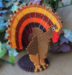 Perler Beads® Turkey #thanksgiving  #kids #craft