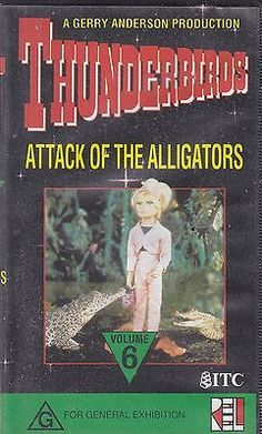 Pal vhs #video tape : #thunderbirds,attack of the #alligators, volume 6,  View more on the LINK: 	http://www.zeppy.io/product/gb/2/380637970325/
