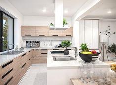 Zdjęcie projektu Padme 2 WOE1113 Bungalow, Building A House, Kitchen, Home Decor, Poland, Villa, Summer, Houses, Cooking