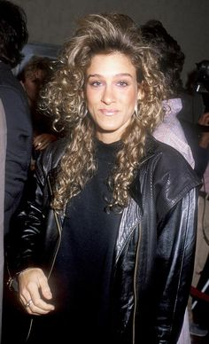Sarah Jessica Parker...note the ugly hair of the 80's...