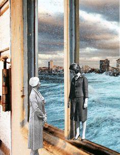 Voisines, 2017. Collage papier. Collages de Zophie Zyphon