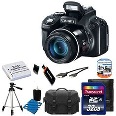 Canon PowerShot SX50 HS 12.1 MP Digital Camera with 50x Wide-Angle Optical Image Stabilized Zoom + Extra Battery + Full Size Tripod + Case & With 32GB Memory Card 11 Pieces Deluxe Accessory bundle  http://www.lookatcamera.com/canon-powershot-sx50-hs-12-1-mp-digital-camera-with-50x-wide-angle-optical-image-stabilized-zoom-extra-battery-full-size-tripod-case-with-32gb-memory-card-11-pieces-deluxe-accessory-bundle-2/