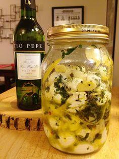 The Lush Chef: Garlic & Herb-Marinated Mozzarella