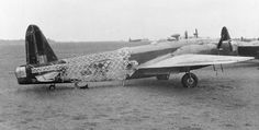 """Vickers Wellington Mark IV, Z1407 'BH-Z', """"Zośka"""", of No. 300 Polish Bomber Squadron RAF on the ground at Ingham, Lincolnshire, having lost most of its rear fuselage fabric through battle damage sustained on 4/5 September 1942 when raiding Bremen, Germany."""