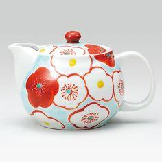 Japanese Kutani ware Tea pot 九谷焼 ポット急須・梅紋