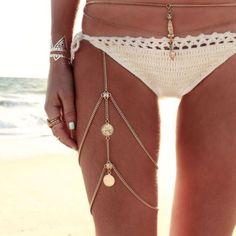 Multi-layer-Fashion-Thigh-Leg-Chain-Jewelry-Body-Bikini-Beach-Harness-Summer-Hot