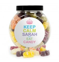 Keep Calm Jelly Babies Sweet Jar | Sweets | Exclusively Personal