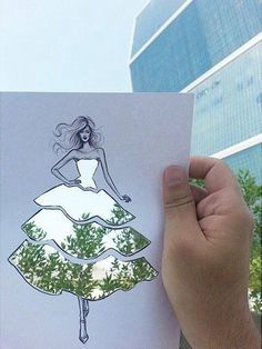 Shamekh Creative Cut-outs Fashion Illustration Shamekh Bluwi is an architect and fashion illustrator based in Amman, Jordan. He recently creates a series of beautiful paper cut-outs fashion sketches. Dress Sketches, Fashion Sketches, Fashion Illustrations, Illustration Fashion, Drawing Fashion, Cicely Mary Barker, Foto Art, Gandalf, Art Plastique