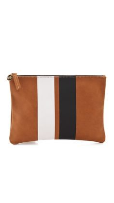 CLARE VIVIER Stripe Flat Clutch | selected by jamesdrygoods.com for the made in america: contemporary project | #madeinusa |
