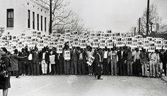 Photo by Ernest C. Withers of Solidarity March by Memphis Sanitation workers. Photo taken in front of Clayborn Temple, Memphis TN, on March One week later Martin Luther King was assasinated the Lorraine Motel balcony in Memphis. National Civil Rights Museum, National Museum, Vivian Maier, Martin Luther King, André Kertesz, Civil Rights Movement, African American History, Black People, Portrait