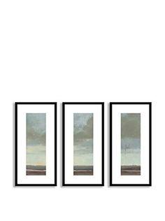Gallery Direct Viridian Sky II Triptych (Multi)
