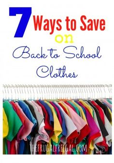 7 Ways to Save on Back to School Clothes #backtoschool