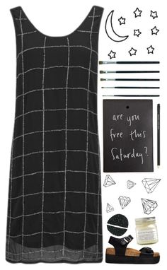 """monochrome"" by emma-545 ❤ liked on Polyvore featuring VILA, Truffle and Brooklyn Candle Studio"