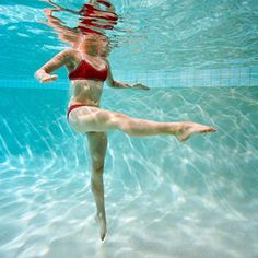 Pool Workout-want to lose weight without breaking a sweat? Hop in the pool! This fun water workout burns mega calories and tones every trouble spot..  If you want a gap between your thighs this is perfect!