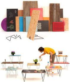 Pés para mesas e prateleiras. DIY
