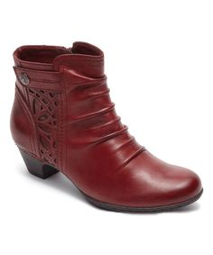 Look what I found on #zulily! Bordeaux Abilene Leather Bootie #zulilyfinds