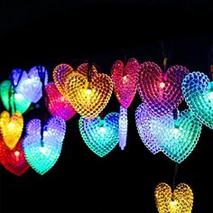 Dephen 30 LED Fairy Lights Solar Outdoor String Lights20ft Solar Powered Starry Heart Shaped String Lights Waterproof Ambiance Lighting for Patio Garden Homes Christmas PartyMulticolor ** Continue to the product at the image link.