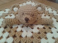 Teddy Bear Lovey Security Blanket crochet pattern on Ravelry