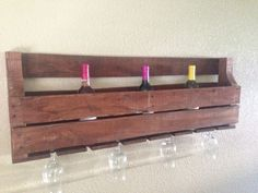 Wine Rack made out of an old Crate  #diy  #ryobination