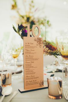 Wooden Table Name & Menu | Wedding Concepts Wedding Planning | Coastal Wedding in Constantia winelands, Cape Town South Africa | Fiona Clair Photography | http://www.rockmywedding.co.uk/bianca-brandon/