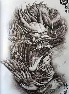 Dragon Head Tattoo, Asian Dragon Tattoo, Japanese Dragon Tattoos, Dragon Tattoo Designs, Best Cover Up Tattoos, Full Leg Tattoos, Body Tattoos, C Tattoo, Chest Tattoo