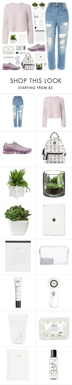 """""""If I had magic. . ."""" by adirakpaula ❤ liked on Polyvore featuring River Island, Intermix, NIKE, MCM, Worlds Away, Topshop, Clarisonic, Seletti, H&M and NARS Cosmetics"""
