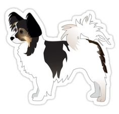 Long-haired Chihuahua Tri-Color Basic Breed Silhouette • Also buy this artwork on stickers, apparel, phone cases, and more.