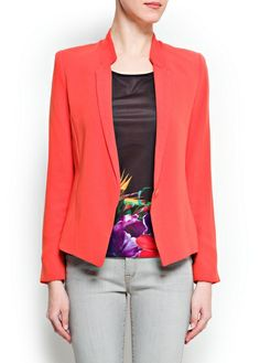 MANGO - CLOTHING - Jackets - Blazers - Asymmetric hem blazer A great basic at £35! Team with some Isabel Marant coral earrings and D crop denim from www.Atticexchange.co.uk