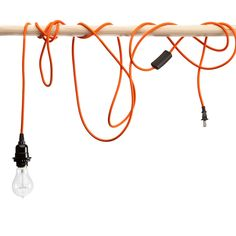 Orange Pendant Light Cord, or as they called it in my day, an extension cord for the garage.