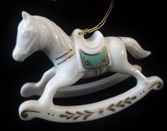 LENOX China USA Decorative Collectible-ROCKING HORSE Ornament-1990