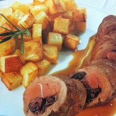 LE GUSTOSE RICETTE  DI NONNA MARIA: Cinghiale lardellato con patate al rosmarino