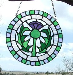 Scottish Thistle - by Ladybug Stained Glass