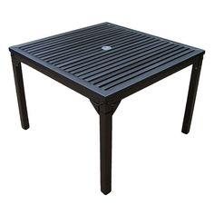 Rochester Outdoor Square Dining Table, Brown Oth