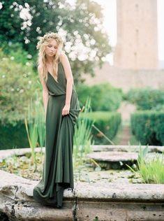 green wedding dresses/ stylish country wedding dresses/ cheap bridesmaid dresses