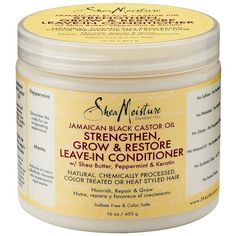 SheaMoisture 16oz Jamaican Black Castor Oil Reparative Leave-In... ($11) ❤ liked on Polyvore featuring beauty products, haircare, hair conditioner, flat iron, straight iron, curly hair leave in conditioner, styling iron and leave in conditioner