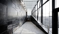 Ensjø T-banestasjon i Oslo, Norge - Ottaskifer #Minera #ModenaFliser Bad, Oslo, Stairs, Gallery, Design, Home Decor, Living Area, Nature, Nice Asses