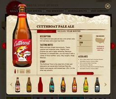 Uinta Brewing Website, designed by The Tenfold Collective.