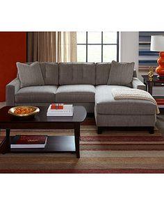 Clarke Fabric Sectional Sofa Living Room Furniture Sets U0026 Pieces   Living  Room Furniture   Furniture