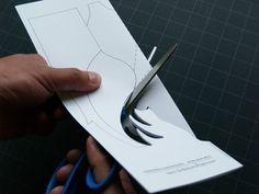 Kirigami Buck Pop-up Card Make Yourself van popupcardmaking