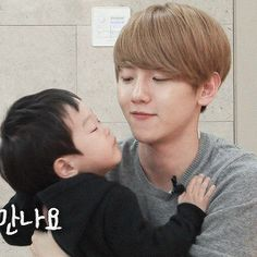 The Return of Superman : Baekhyun getting a kiss from Seojun (2/2)