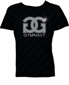 Gymnastics Glitter and Rhinestones Tshirt Gymnast by AEROLeotards, $24.95
