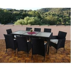 Simple Poly rattan garden furniture Ariana lounge set chairs table Rattan Gartenm belLounges