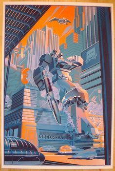 """2013 """"Transformers"""" - Silkscreen Movie Poster by Laurent Durieux"""