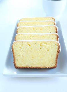 Just like Starbucks makes, but gluten free for you! Fruity and sweet gluten free iced lemon pound cake with the classic tart and sweet lemon glaze. Just like Starbucks, but gluten free! Gluten Free Deserts, Gluten Free Sweets, Foods With Gluten, Dairy Free Recipes, Fără Gluten, Gluten Free Recipes For Breakfast, Wheat Free Recipes, Gluten Free Breakfasts, Gluten Free Pound Cake