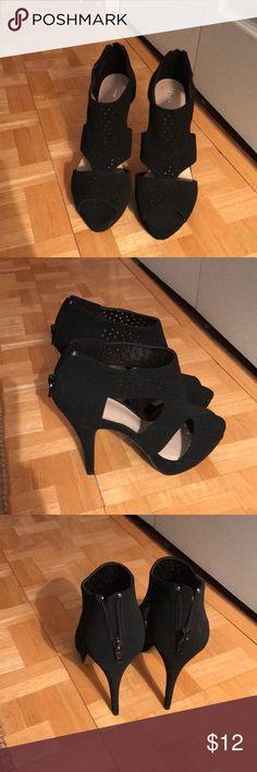 Black Heels Never worn, black open toe heels. Apt. 9 Shoes Heels